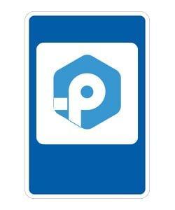 Логотип РемОнлайн в дорожном знаке